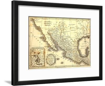 Map Of Mexico Dated 1821
