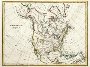 Map Of North America Dated 1791 by Tektite