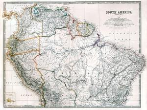Old Map Of Northern South America by Tektite