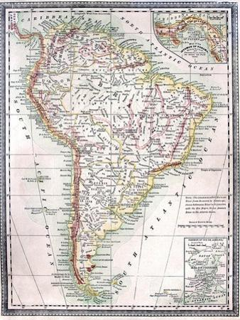 Old Map Of South America by Tektite