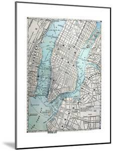 Old Street Map Of New York City by Tektite