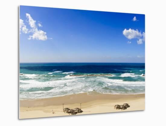 Tel Aviv Beach, Israel, Middle East-Michael DeFreitas-Metal Print
