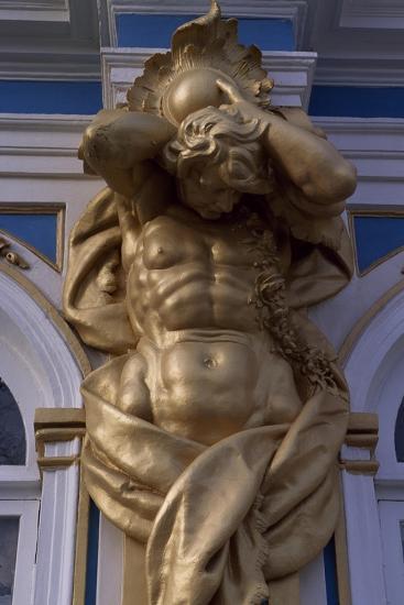 Telamon, Decorative Statue of Catherine Palace--Giclee Print