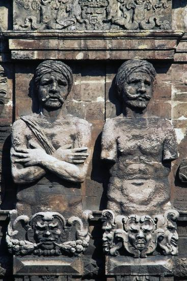 Telamons of Two Moors, Detail from Porta Nuova, Palermo, Sicily, Italy--Giclee Print
