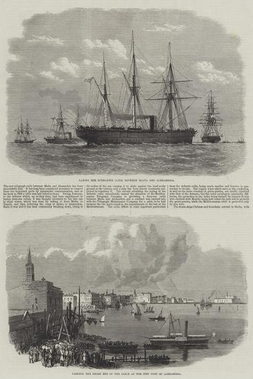 Telegraph Cable Between Malta and Alexandria--Giclee Print