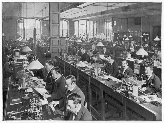 Telegraph Office 1900--Photographic Print