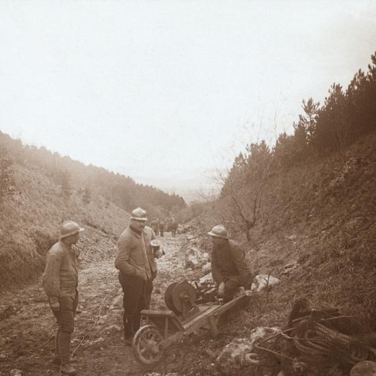 Telegraphists, Somme, northern France, c1914-c1918-Unknown-Photographic Print