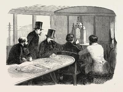 Telegraphy Locomotives. Inside the Car During Operation, 1855.--Giclee Print