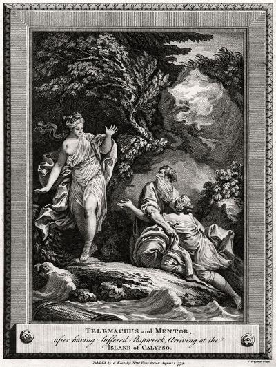 Telemachus and Mentor, after Having Suffered a Shipwreck, Arrive at the Island of Calypso, 1774-Charles Grignion-Giclee Print