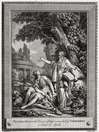 Telemachus, in the Desert of Oasis, Is Consoled by Termosiris a Priest of Apollo, 1774-Charles Grignion-Giclee Print