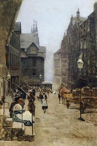 High Street in Edinburgh by Telemaco Signorini