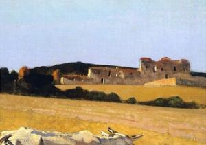 Pastures in Castiglioncello, 1861 by Telemaco Signorini