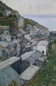 View of Riomaggiore, Modern Art Gallery, Florence by Telemaco Signorini
