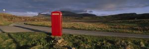 Telephone Booth in a Landscape, Isle of Skye, Highlands, Scotland, United Kingdom