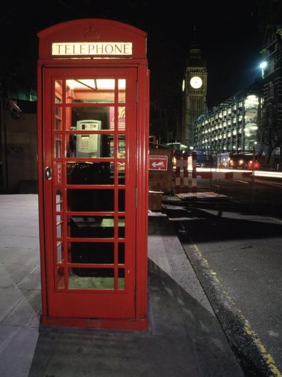 Telephone Booth, London, England-Dan Gair-Photographic Print