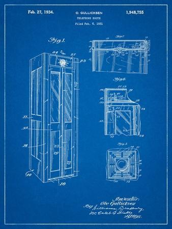 Telephone Booth Patent-Cole Borders-Art Print
