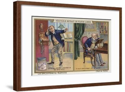 Telephone Conversation--Framed Giclee Print