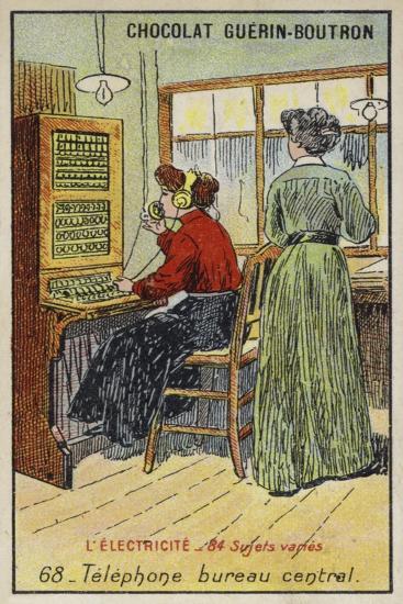Telephone Exchange--Giclee Print