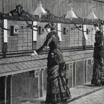 Telephone Operators of Italo-American Public Phone Service--Giclee Print