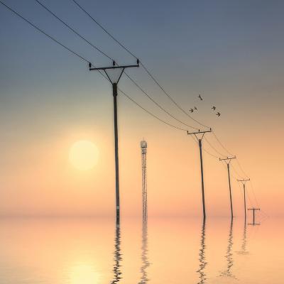 Telephone Post at Sunset-kurtmartin-Photographic Print