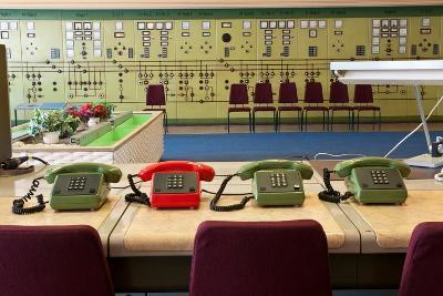 Telephones in an Old Power Station-Nathan Wright-Photographic Print