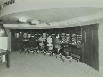 Telephonists at the Fire Brigade Headquarters, Lambeth, London, 1940--Photographic Print