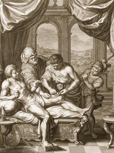 Telephus Cured by the Rust of the Same Spear Which Wounded Him, 1731 (Engraving)-Bernard Picart-Giclee Print