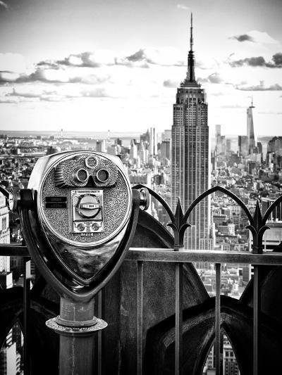 Telescope on the Obervatoire Deck, Top on the Rock at Rockefeller Center, Manhattan, New York-Philippe Hugonnard-Photographic Print