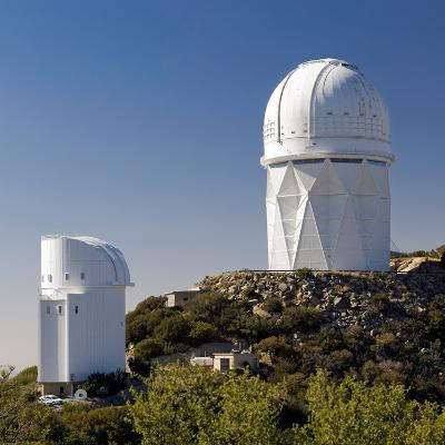 Telescopes on Kitt Peak National Observatory, Arizona-Susan Degginger-Photographic Print