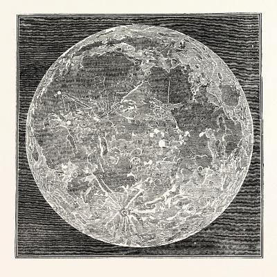 Telescopic Appearance of the Moon 1833--Giclee Print