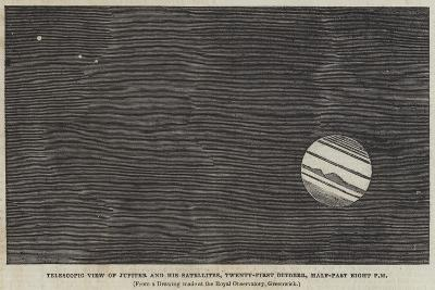 Telescopic View of Jupiter and His Satellites, 21 October, Half-Past Eight Pm--Giclee Print