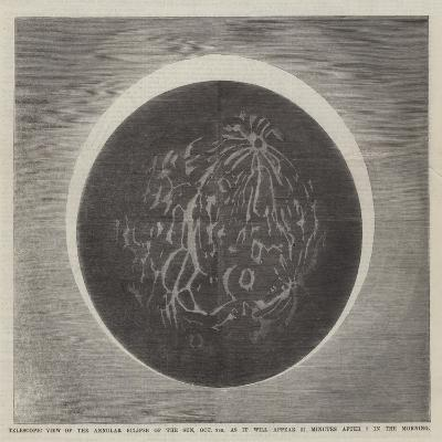 Telescopic View of the Annular Eclipse of the Sun--Giclee Print
