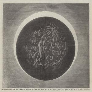 Telescopic View of the Annular Eclipse of the Sun
