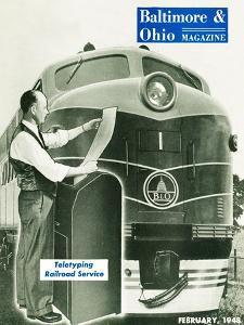 Teletyping Railroad Service