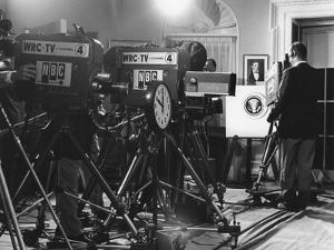Television Cameras at an Event at the White House
