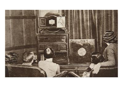 Television, Developed by John L. Baird, Was Successfully Broadcast-English Photographer-Giclee Print
