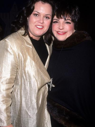 Television Personality Rosie O'Donnell and Actress/Singer Liza Minnelli at White Rose Awards--Photographic Print