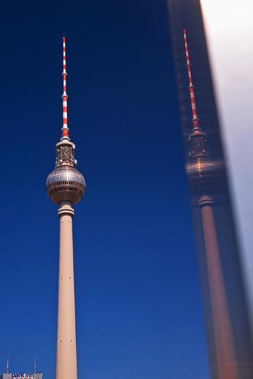 Television Tower at the Alexander Platz in Berlin-Thomas Ebelt-Photographic Print