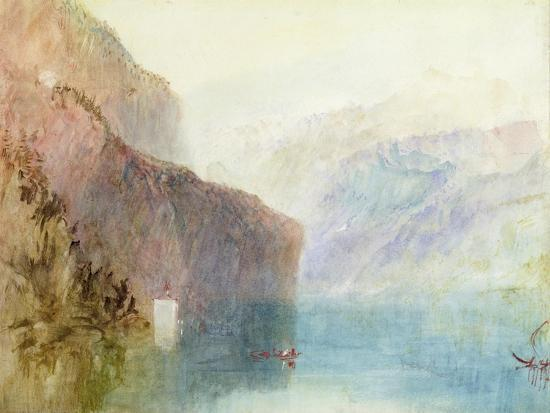 Tell's Chapel, Lake Lucerne, C.1841 (W/C with Pen on Paper)-J^ M^ W^ Turner-Giclee Print