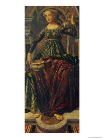 Temperance, Depicting the Virtues Designed for the Council Chamber of the Merchant's Guild Hall-Piero Del Pollaiolo-Giclee Print