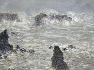 Tempête, côtes de Belle-île-Claude Monet-Giclee Print