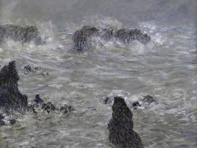 Tempete, Cotes de Belle, Ilestorm-Claude Monet-Giclee Print