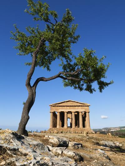 Tempio Di Concordia (Concord) and Almond Tree, Valle Dei Templi, UNESCO World Heritage Site, Agrige-Stuart Black-Photographic Print
