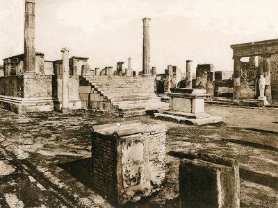 Tempio Di Giove, Pompeii, Italy, C1900s--Giclee Print