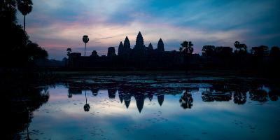 Temple at the Lakeside, Angkor Wat, Angkor Thom, Siem Reap, Angkor, Cambodia--Photographic Print