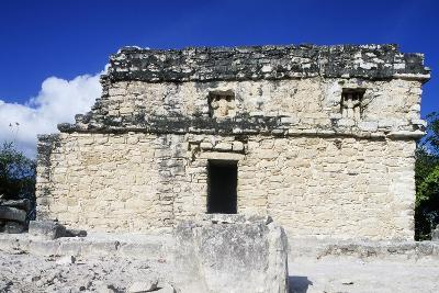 Temple Atop Nohoch Mul Pyramid, 42M High, Archaeological Site of Coba, Quintana Roo, Mexico--Giclee Print