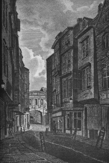'Temple Bar from Butcher Row', 1907-Unknown-Giclee Print