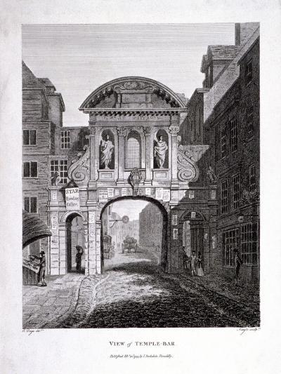 Temple Bar, London, 1799-James Neagle-Giclee Print