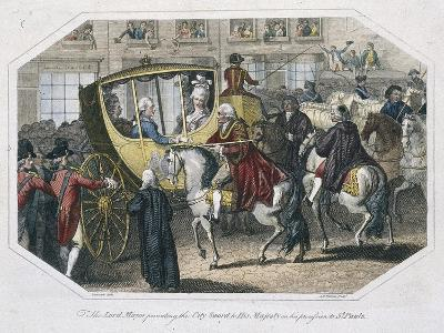 Temple Bar, London, 1804-AW Warren-Giclee Print