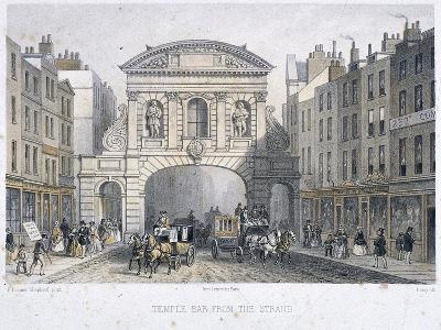 Temple Bar, London, 1854-Deroy-Giclee Print